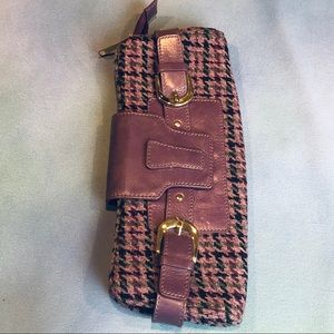 Banana Republic plaid purple clutch